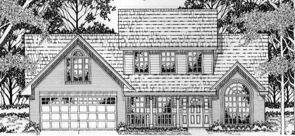 Country European House Plan 79162 Elevation