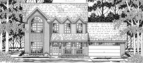 Country , European House Plan 79163 with 3 Beds, 2 Baths, 2 Car Garage Elevation
