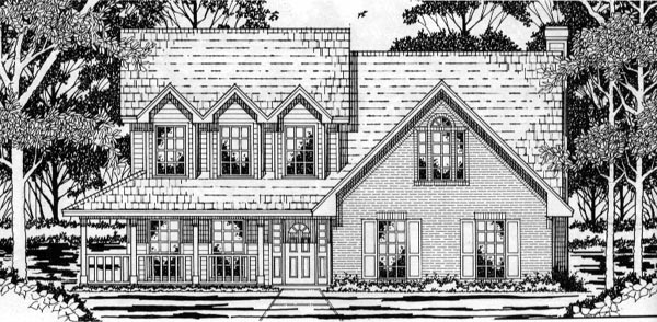 Country Farmhouse House Plan 79164 Elevation
