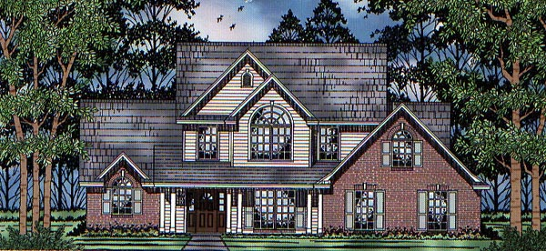 Country Traditional House Plan 79166 Elevation