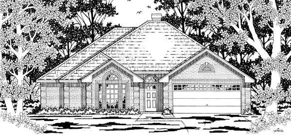 European House Plan 79173 Elevation