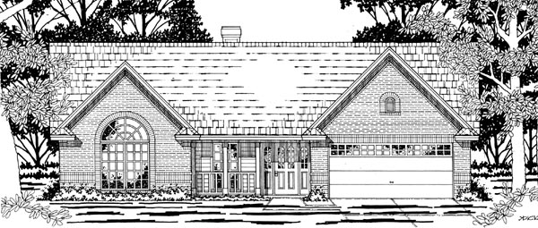 Ranch House Plan 79174 Elevation