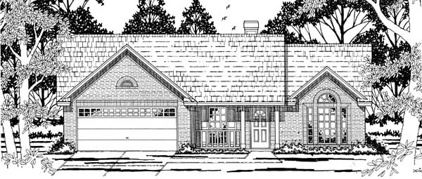 Ranch Traditional House Plan 79175 Elevation