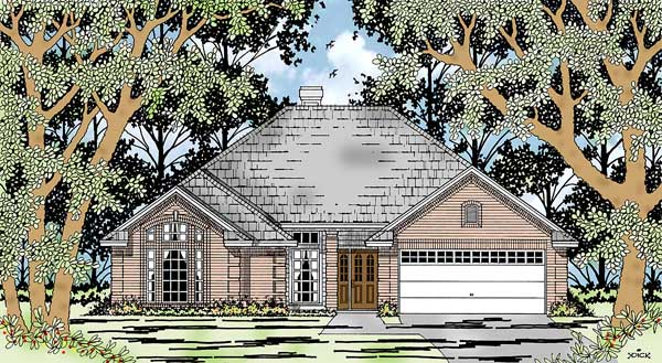European House Plan 79176 Elevation