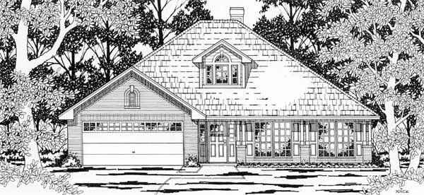 European House Plan 79177 Elevation