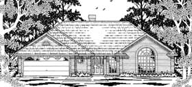 House Plan 79180 | European Style Plan with 1585 Sq Ft, 3 Bedrooms, 2 Bathrooms, 2 Car Garage Elevation