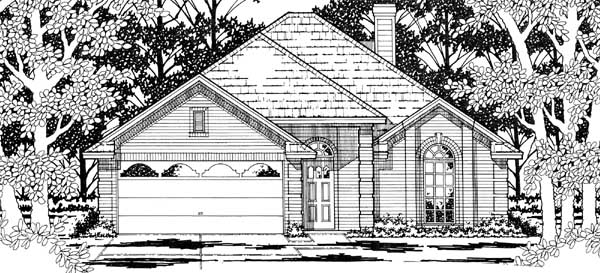 House Plan 79184 | European Florida Style Plan with 1618 Sq Ft, 3 Bedrooms, 2 Bathrooms, 2 Car Garage Elevation
