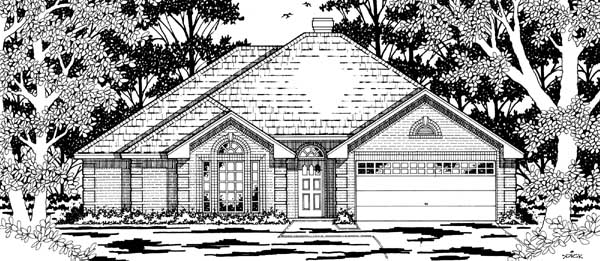 European House Plan 79185 Elevation