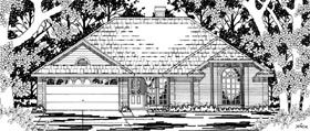 House Plan 79190 | European Style House Plan with 1667 Sq Ft, 4 Bed, 2 Bath, 2 Car Garage Elevation