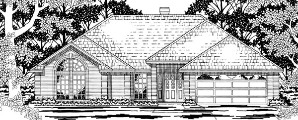 European House Plan 79191 Elevation