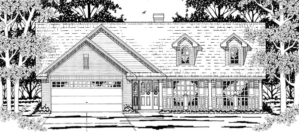 Country House Plan 79193 Elevation