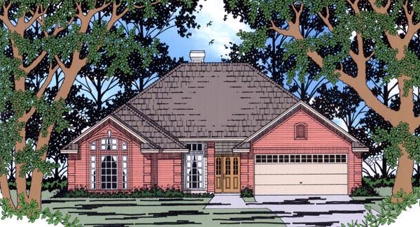European House Plan 79194 Elevation