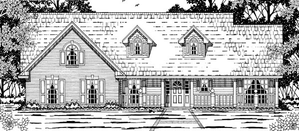 Country House Plan 79196 Elevation
