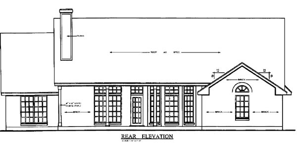 Country House Plan 79196 Rear Elevation