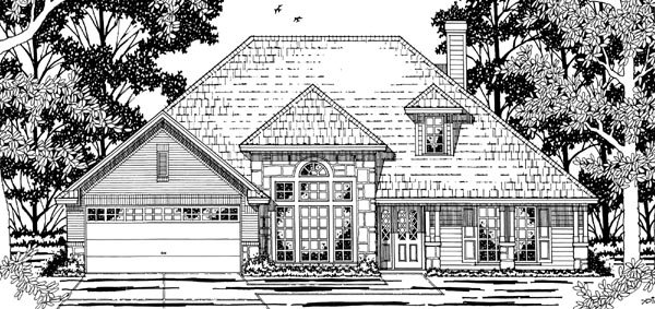 European , Victorian House Plan 79197 with 3 Beds, 2 Baths, 2 Car Garage Elevation
