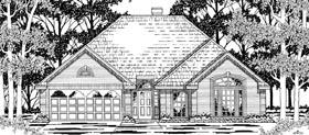European House Plan 79198 Elevation