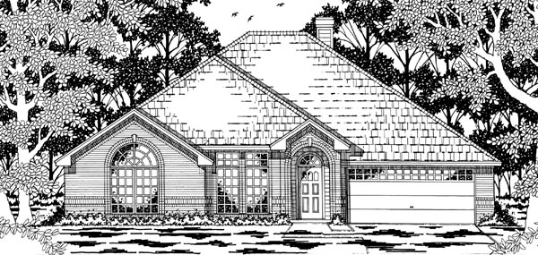 European House Plan 79199 Elevation