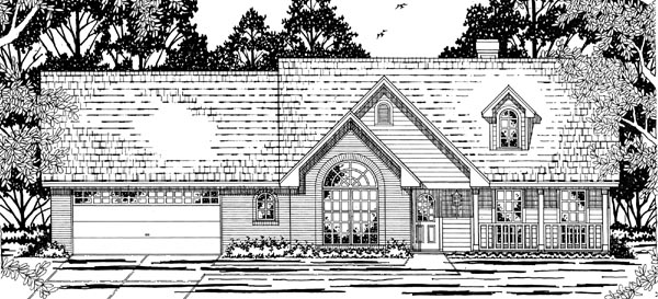 Country European House Plan 79200 Elevation
