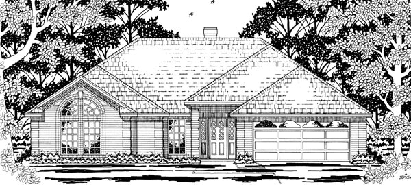 European House Plan 79201 Elevation