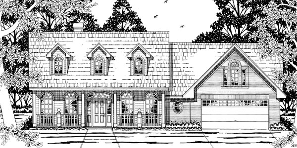 Cape Cod Country House Plan 79202 Elevation