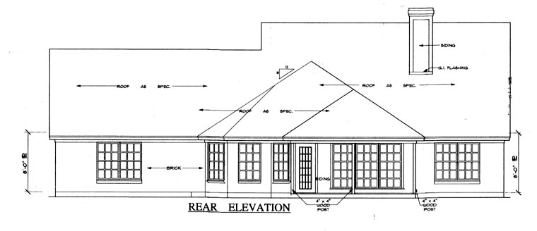 Cape Cod Country House Plan 79202 Rear Elevation