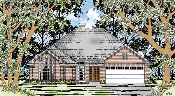 European House Plan 79203 Elevation