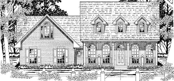 Cape Cod Country House Plan 79204 Elevation
