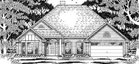 European House Plan 79205 Elevation