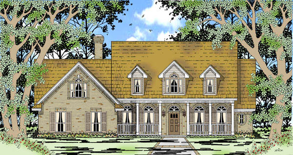 Cape Cod Country House Plan 79208 Elevation