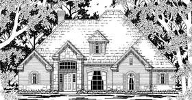 European Tudor House Plan 79209 Elevation