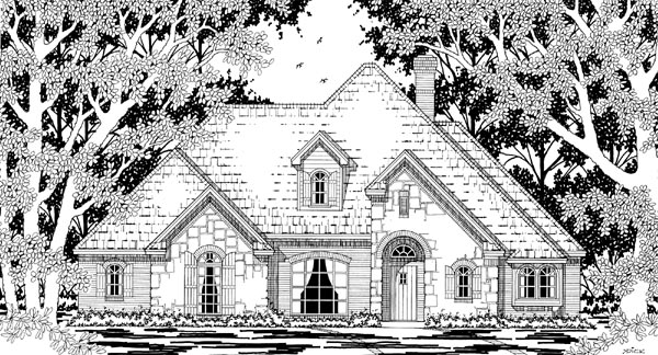 European Tudor House Plan 79210 Elevation