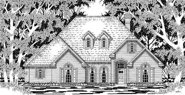 European House Plan 79213 Elevation