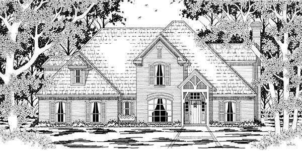 European Victorian House Plan 79215 Elevation