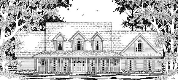 Cape Cod Country House Plan 79217 Elevation