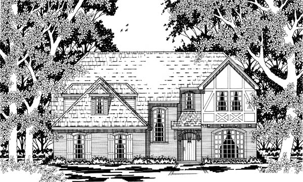 Tudor House Plan 79218 Elevation
