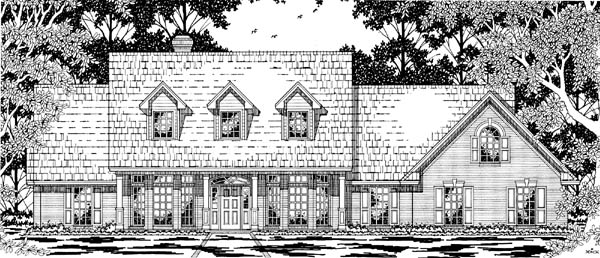 Cape Cod Country House Plan 79219 Elevation