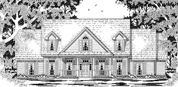 Cape Cod Country House Plan 79220 Elevation