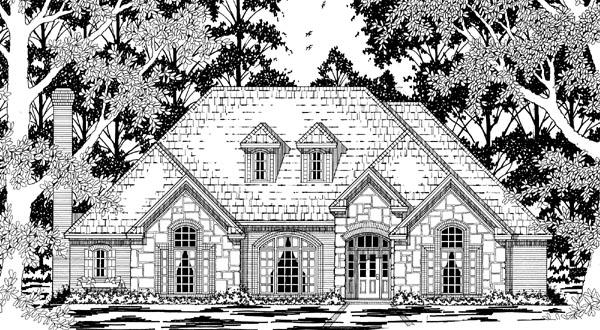 European House Plan 79222 Elevation