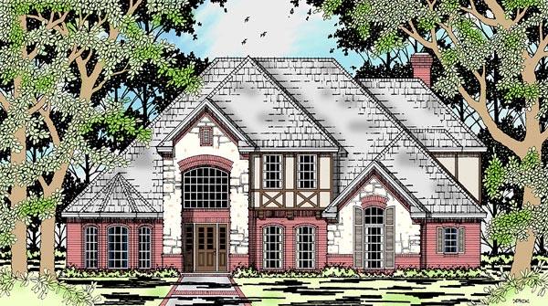 Tudor Victorian House Plan 79226 Elevation