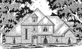 Tudor Victorian House Plan 79227 Elevation