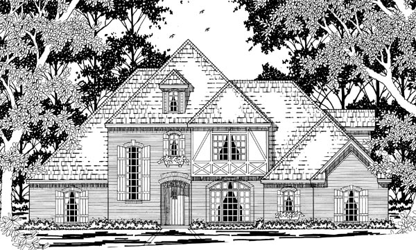 Tudor Victorian House Plan 79227 Elevation