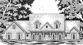 Cape Cod Country House Plan 79229 Elevation