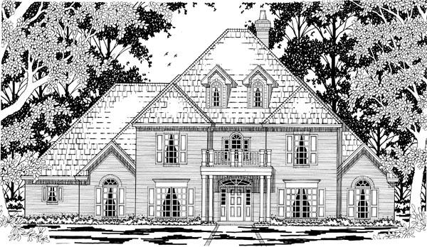 European Victorian House Plan 79230 Elevation