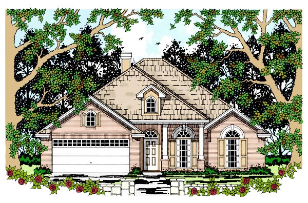 European House Plan 79234 Elevation