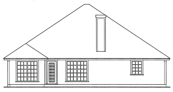 European House Plan 79234 Rear Elevation