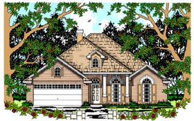 House Plan 79236 | Colonial, European Style House Plan with 1874 Sq Ft, 4 Bed, 2 Bath, 2 Car Garage Elevation