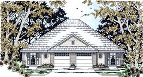 Country Multi-Family Plan 79238 Elevation