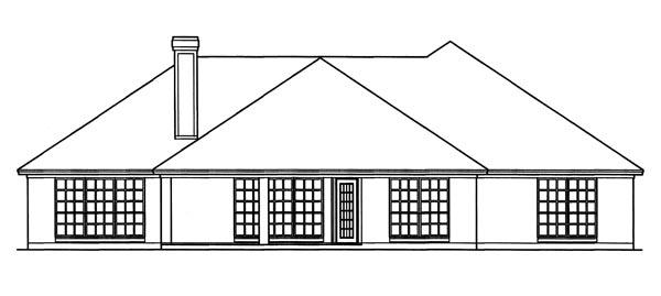 European House Plan 79239 Rear Elevation