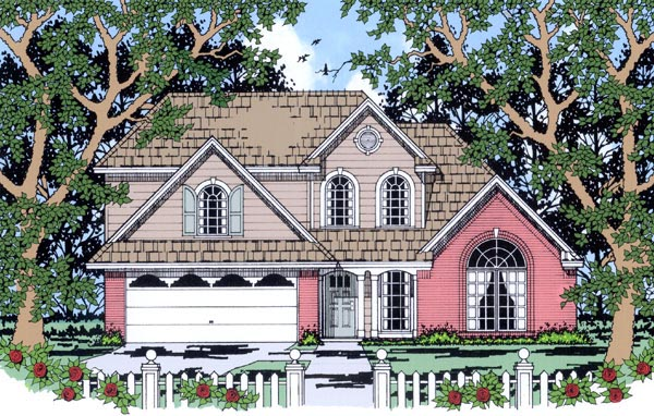 Craftsman European House Plan 79241 Elevation