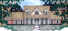 Country , Cape Cod House Plan 79243 with 4 Beds, 3 Baths, 2 Car Garage Elevation